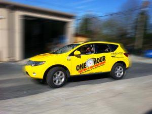 One Hour Heating & Air Vehicle Wrap Boston MA